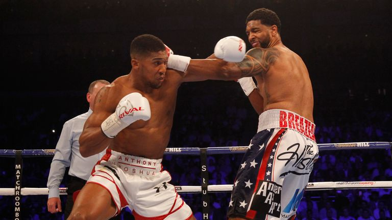 Breazeale took Joshua past the halfway mark for only the second time in his career
