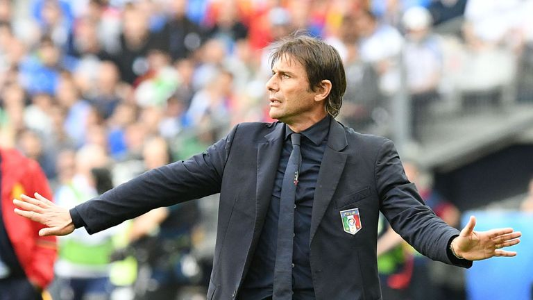 Conte coached Italy to the quarter-finals of Euro 2016 where they lost to Germany on penalties