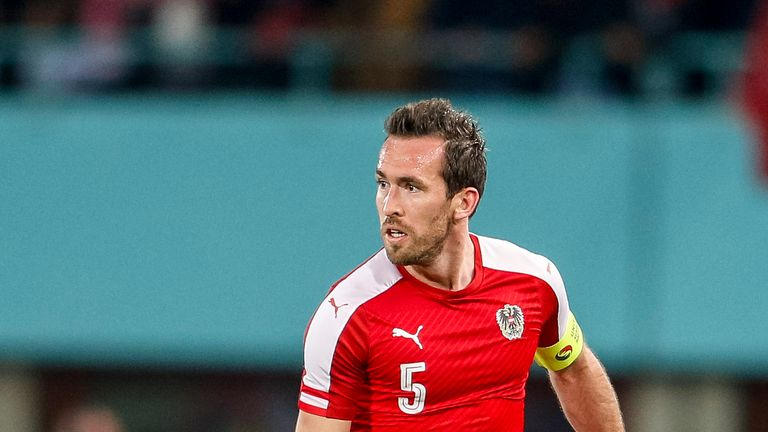 Leicester left-back Christian Fuchs captained Austria at Euro 2016