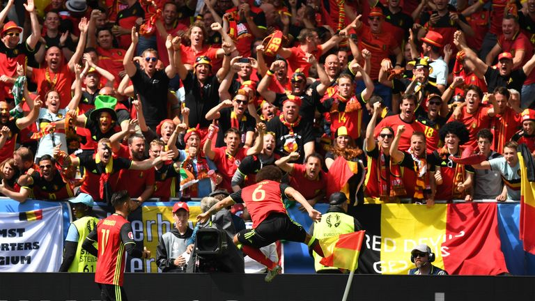 Belgium boosted their chances of reaching the knockout stages with a 3-0 win over Republic of Ireland on Saturday
