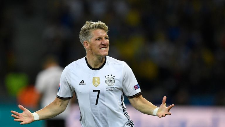 Germany captain Bastian Schweinsteiger is playing in his fourth European Championships