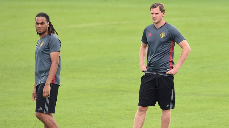 Jan Vertonghen injured his ankle at a training session on Thursday morning