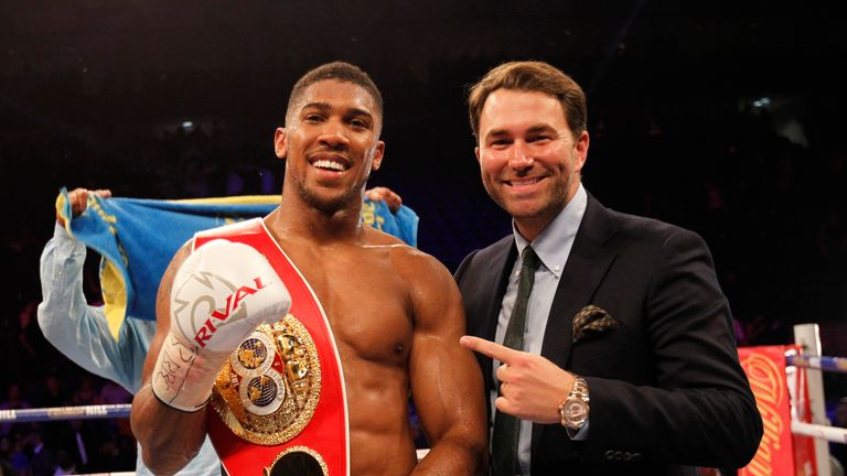 Eddie Hearn is still to decide who Anthony Joshua will face next
