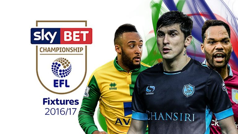 The 2016/17 Championship fixtures are out - but who's your side facing and when?