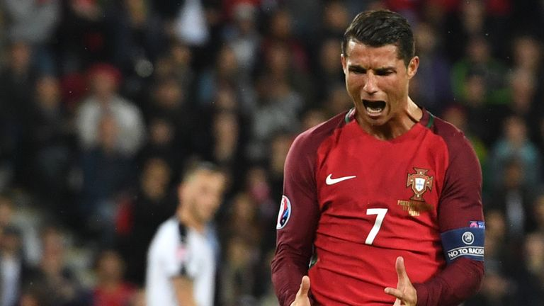 Cristiano Ronaldo missed a late penalty for Portugal against Austria
