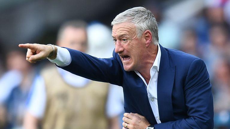 France's coach Didier Deschamps gestures