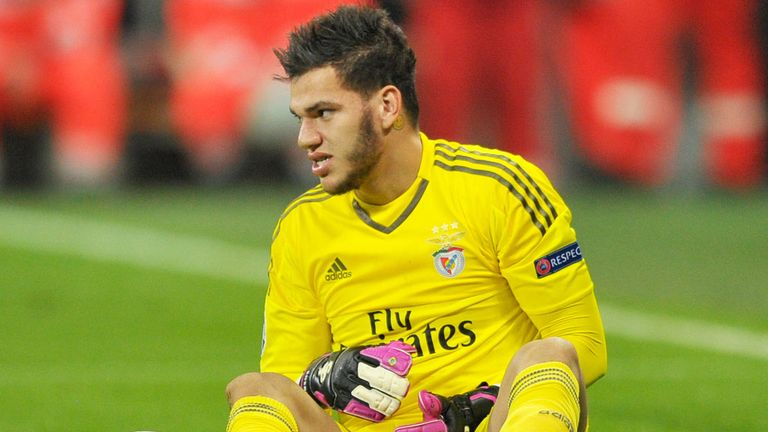 Benfica goalkeeper Ederson has pulled out of the Brazil squad