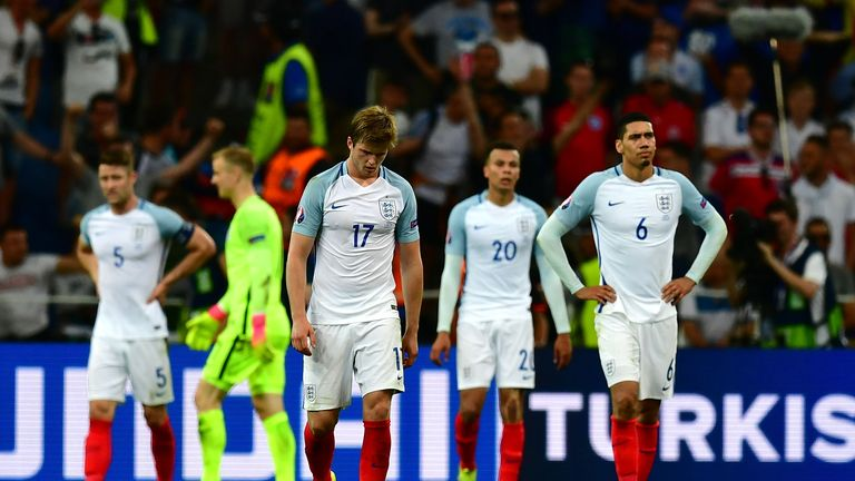 MARSEILLE, FRANCE - JUNE 11:  Eric Dier of England shows his dejetion after his team's 1-1 draw in the UEFA EURO 2016 Group B match between England and Rus