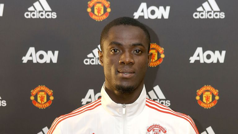 Manchester United's new signing Eric Bailly is unveiled at Old Trafford on June 8, 2016 in Manchester, England