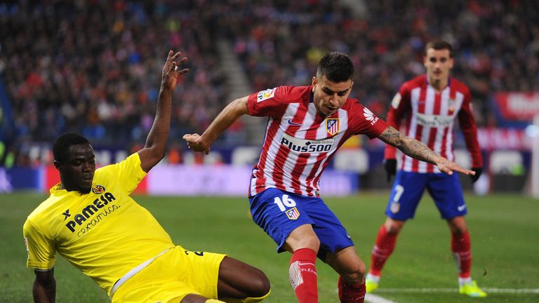 Bailly in action for Villarreal against Atletico Madrid