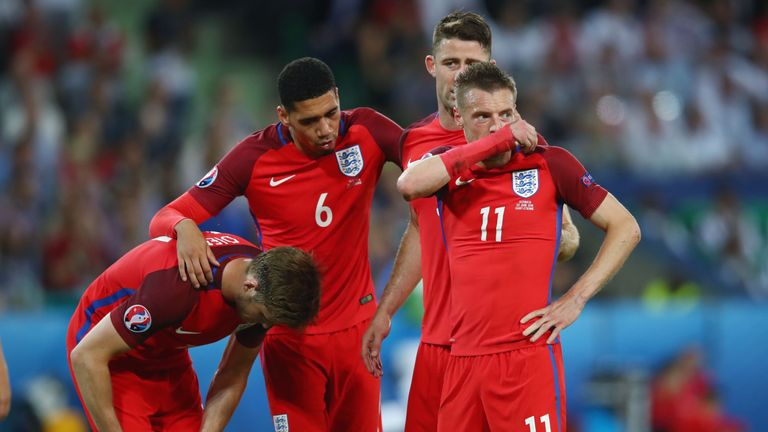 England's players were left frustrated in St Etienne on Monday night