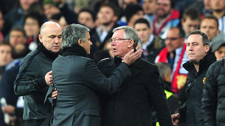 Jose Mourninho faced Sir Alex Ferguson in the Premier League and Champions League