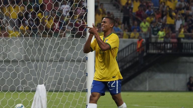 Gabriel Jesus is part of Brazil's Olympic squad