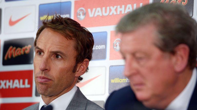 Gareth Southgate, Roy Hodgson, England press conference August 2013
