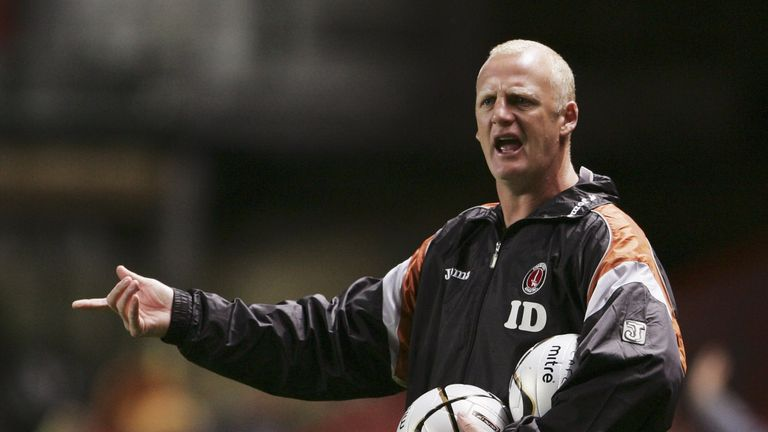 Iain Dowie left Charlton on bad terms