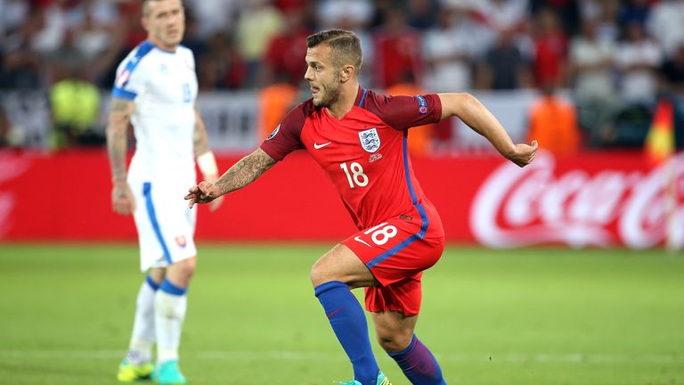 Jack Wilshire of England in action