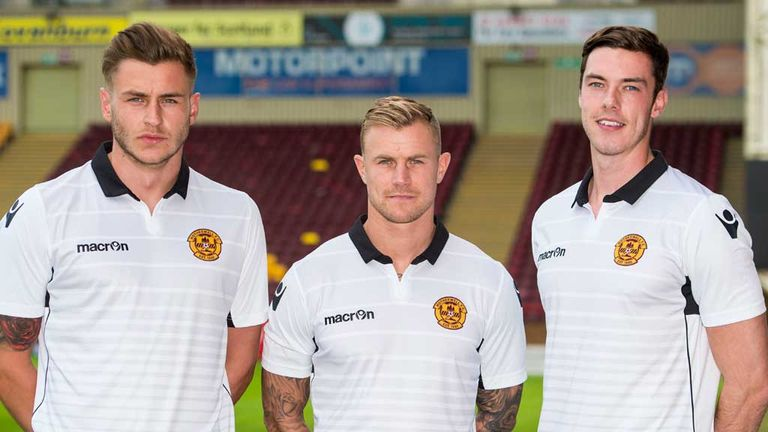 Jacob Blyth, Richard Tait and Ben Heneghan pictured at Fir Park