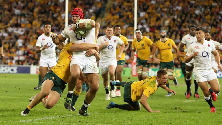 James Haskell on the charge in Brisbane