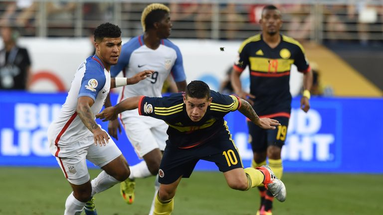 James Rodriguez scored Colombia's second against USA