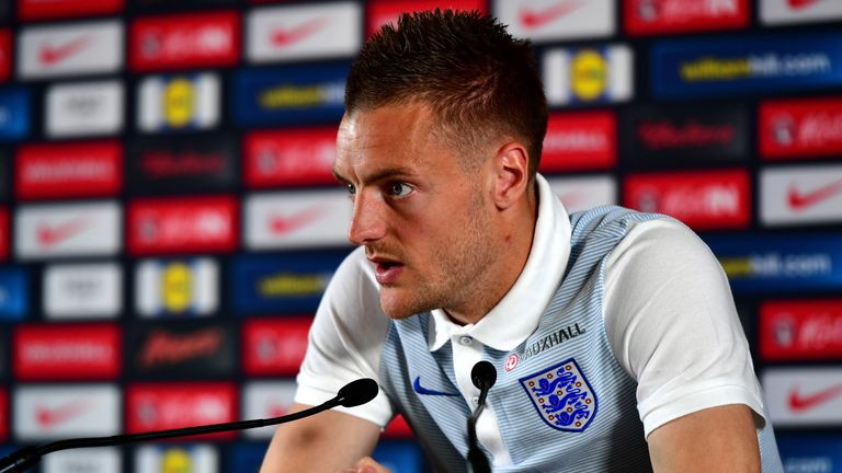 Jamie Vardy is aiming to make his way into Roy Hodgson's starting XI