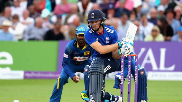 Jos Buttler hit 93 in the first ODI at Trent Bridge, sharing in a 138-run stand with Chris Woakes