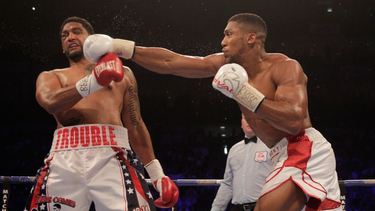 Anthony Joshua produced an explosive knockout win