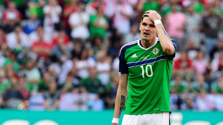Kyle Lafferty doubts he will start Tuesday's clash with world champions Germany