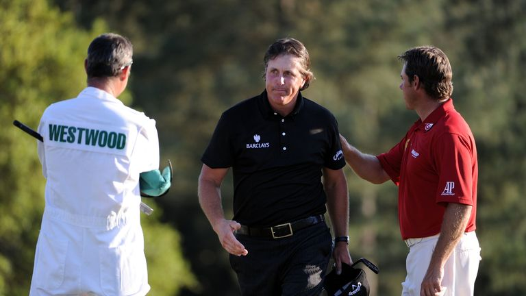 Phil Mickelson claimed the 2010 Masters title despite Westwood's 54-hole lead
