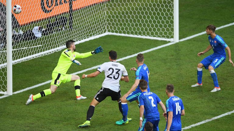 Mario Gomez scored from close range two minutes before half-time