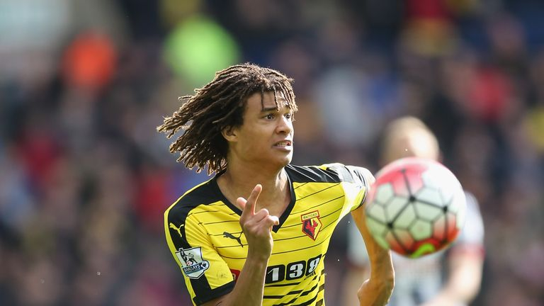 WEST BROMWICH, ENGLAND - APRIL 16:  Nathan Ake of Watford during the Barclays Premier League match between West Bromwich Albion and Watford at The Hawthorn