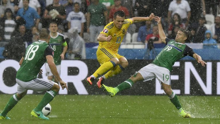 Ukraine midfielder Yevhen Konoplyanka was a threat but struggled to break through Northern Ireland's defence