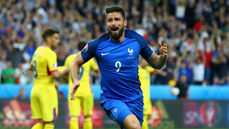 Olivier Giroud opened the scoring with a header in the second half