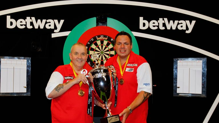 Phil Taylor and Adrian Lewis teamed up to win all four of England's World Cup titles