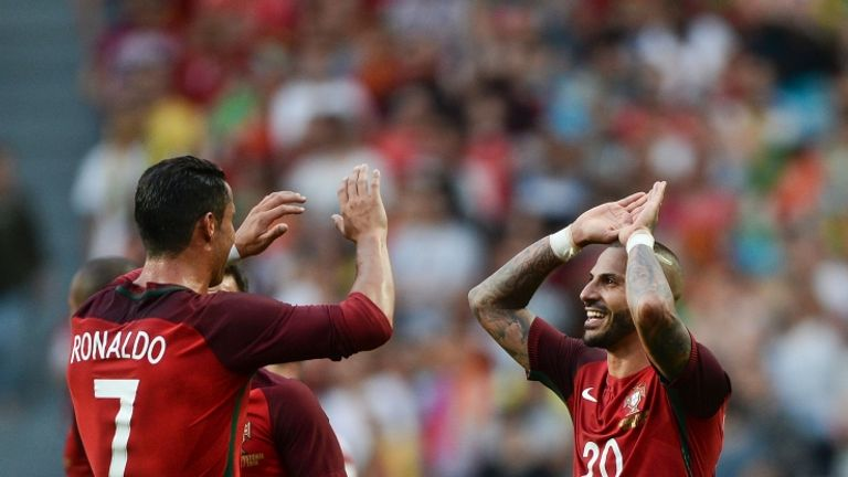 Ronaldo is one cap shy of the Portugal record of 126 held by Luis Figo