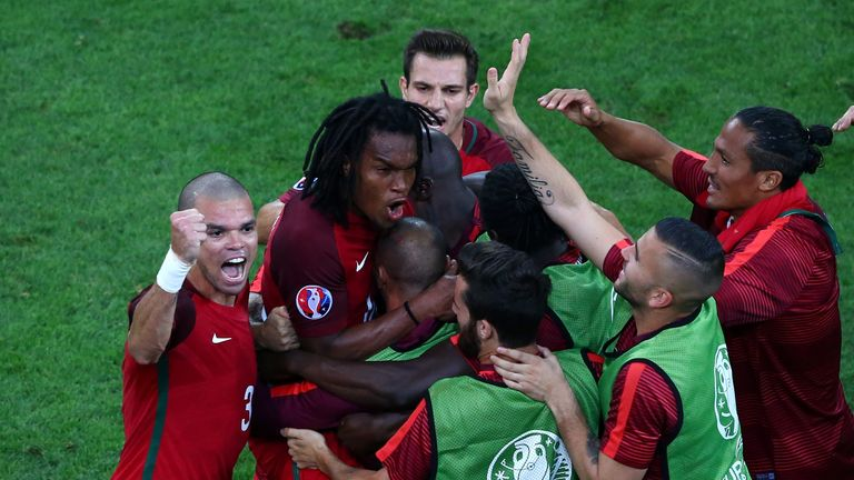 Renato Sanches shone in his first start for Portugal