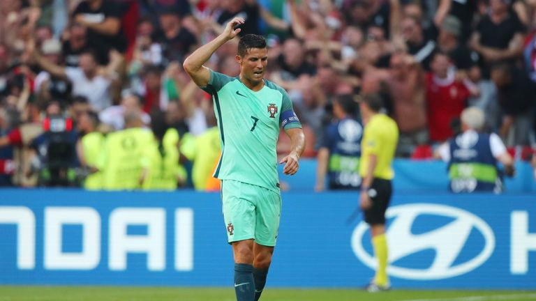 Ronaldo was left frustrated by his side's defending against Hungary