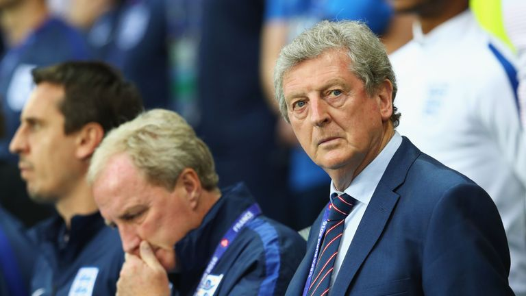 Roy Hodgson manager of England looks on