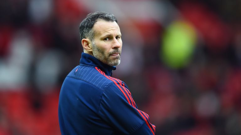 MANCHESTER, ENGLAND - FEBRUARY 28:  Ryan Giggs the Assistant manager of Manchester United looks on during the Barclays Premier League match between Manches