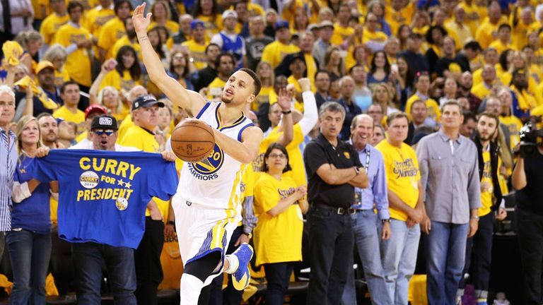 Curry and the Warriors finished 73-9 in the regular season this year