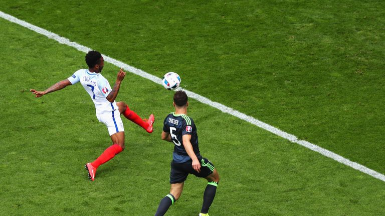 Raheem Sterling spurned a chance after seven minutes