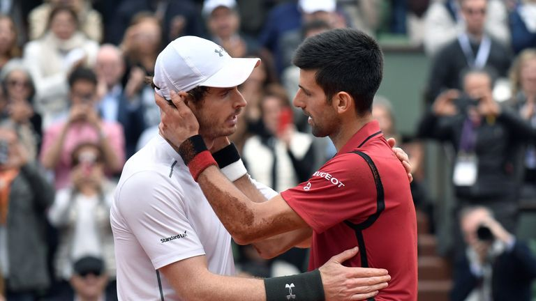 World No 2 Murray is Djokovic's closest rival but has last both of this year's finals