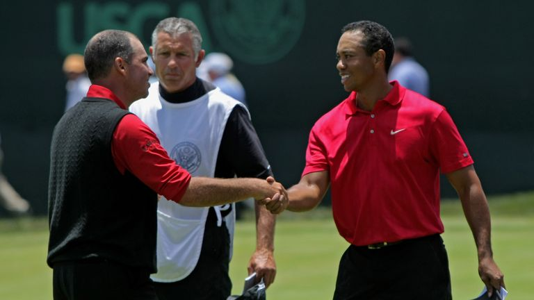 Tiger Woods beat Rocco Mediate in a Monday 18-hole play-off at Torrey Pines in 2008.