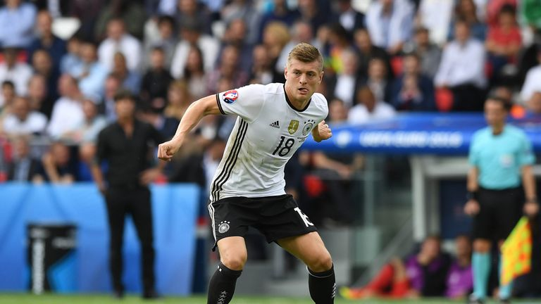 Toni Kroos of Germany during the UEFA EURO 2016 Group C match between Northern Ireland and Germany