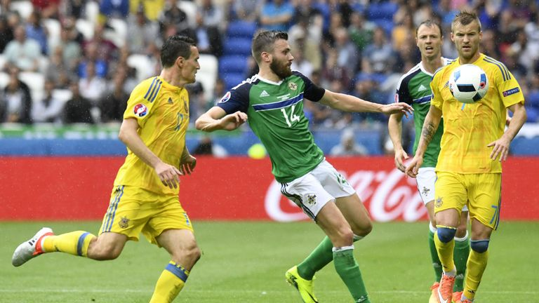 Stuart Dallas was one of five changes Michael O'Neill made for the Ukraine victory