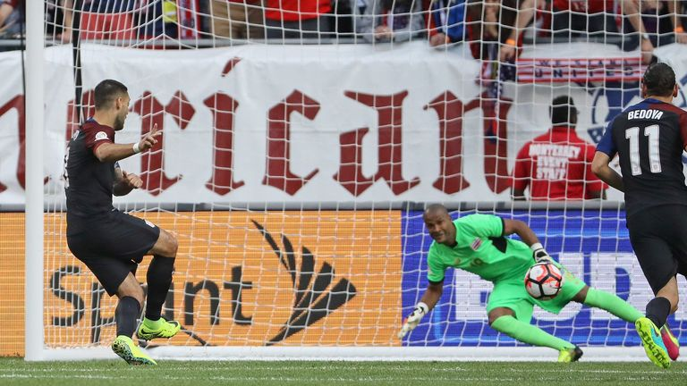 Clint Dempsey scores his 50th USA goal
