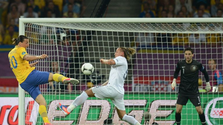 Ibrahimovic hammered in a scissor-kick versus France at Euro 2012