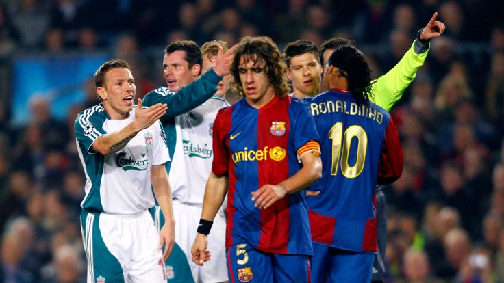 Liverpool beat Barcelona 2-1 at the Nou Camp in 2007.