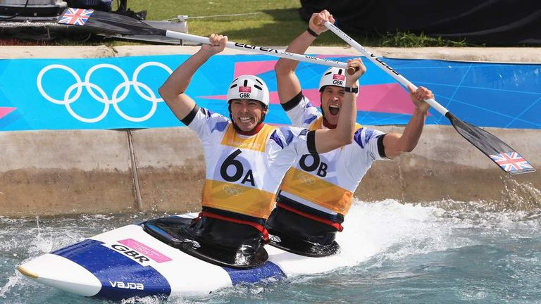 David Florence (front) winning silver at London 2012  with Richard Hounslow