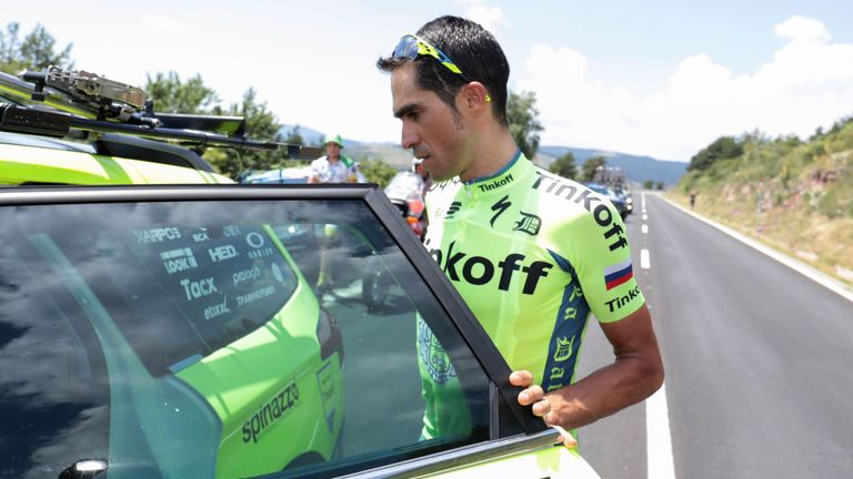 Alberto Contador left the Tour de France on stage nine due to injury