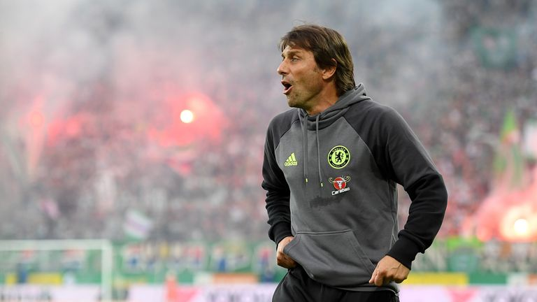 Conte lost his first friendly game in charge of Chelsea against Rapid Vienna